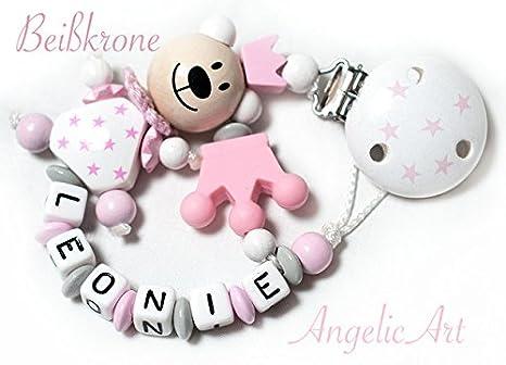 Cadena para chupete bebé con nombre personalizado - Niña - Color ...