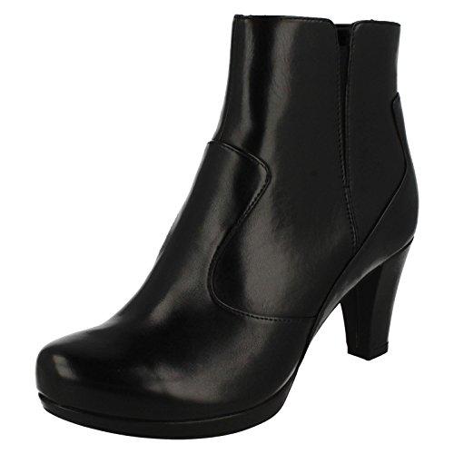 Clarks Women's Chorus Zen Ankle Boots Black Leather POYmLI3ck