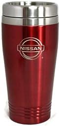 Nissan Travel Mug Travel Coffee Mug Cup Stainless Steel Tea Mug Thermo - Red