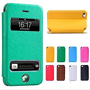 GJY New Smart Luxury Flip Leather Cover Case for iPhone 5/5S(Assorted Colors) , Blue
