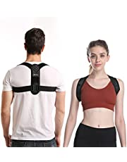 Back Posture Corrector for Women&Men, jifrerina Back Support for Clavicle Support,Comfortable Adjustable and Breathable Back Brace Posture Corrector for Your Upper Back, Neck and Shoulder Pain Relief