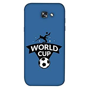 ColorKing Samsung A3 2017 Football Blue Case shell cover - Fifa Cup 14