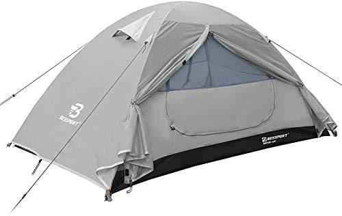 Bessport tent voor 1 en 2 personen, ultralicht, waterdicht, 3-4 seizoenen, voor trekking, outdoor, festival, camping…
