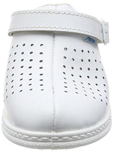 antideslizante blanco Abeba con 7001 suela blanco Zuecos AwxR6qgU