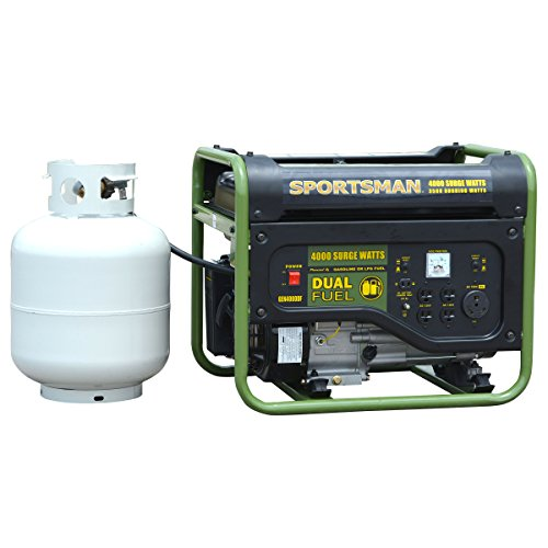 Sportsman GEN4000DF, 3500 Running Watts/4000 Starting Watts, Dual Fuel Powered Portable (Dual Generator)