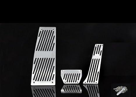 Wotefusi coche nueva aleación de aluminio acelerador freno de embrague almohadilla gasolina gas pedales reposapiés para BMW E60, X5, X6,5 serie a: ...