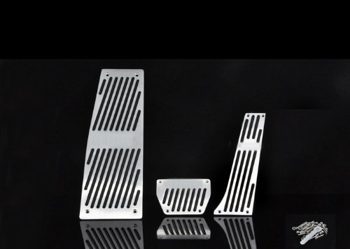 Alloy Pedal Set (Wotefusi Car New Aluminium alloy Accelerator Brake Clutch Pad Gas Petrol Foot Rest Pedal Set For BMW E60,X5,X6,5 Series)