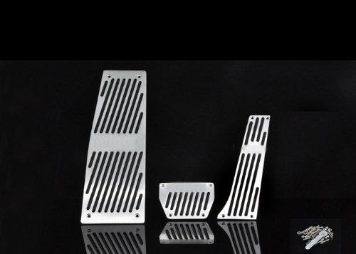 Alloy Pedal Set - Wotefusi Car New Aluminium Alloy Accelerator Brake Clutch Pad Gas Petrol Foot Rest Pedal Set for BMW E60,X5,X6,5 Series at