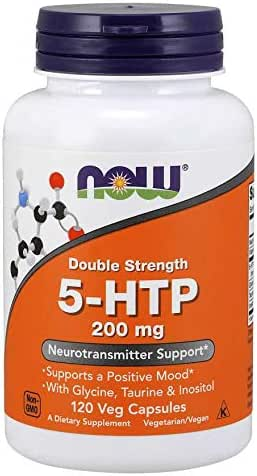 Now Foods 5-HTP 200 Milligrams,120 Vcaps (Pack of 2)