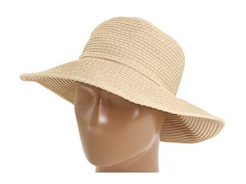(San Diego Hat Company Women's Ribbon Crusher Medium Brim - One Size, Beige)