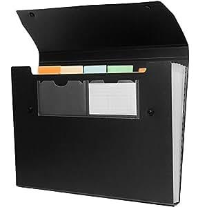 Premium Expandable File Folder-6 Pocket, Letter Size,water/tear Resistant-opaque