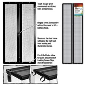 Cover Reptile (Zilla Fresh Air Screen Cover With Center Hinge 36 Inch L x 12 Inch W)
