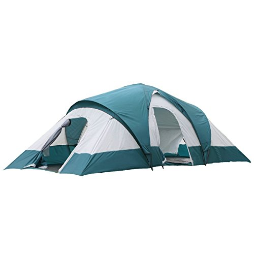 SEMOO Water Resistant 9-Person 3-Room Family Tent with Large D-Style Door for Camping/Traveling