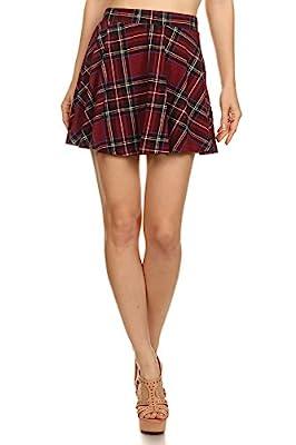 Ginger G Flannel Print Skater Skirt