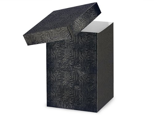 Pack of 50, Black Swirl Hi-Wall 6 x 6 x 9'' 100% Recycled Giftware Box Base Use Food Safe Barrier Like Food Grade Tissue or Cello for Food Packaging(Lids Sold Separately) by Generic