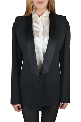 Maison Martin Margiela Women's 100% Virgin Wool Black Tuxedo Style Blazer US M IT - Style Maison Margiela Martin