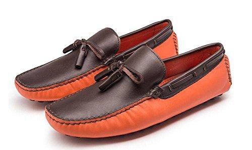 Männer Slip-On Oxford Schuhe Sommer Hosen Schuhe Breathable Leder echte Fahrschuhen Weiche Leder Flats Casual Schuhe , yellow , 39