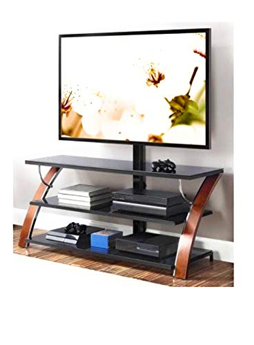 Whalen Brown Cherry 3-in-1 Flat Panel TV Stand for TVs up to 65 -
