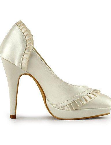 GGX/ Damen-Hochzeitsschuhe-Absätze / Rundeschuh-High Heels-Hochzeit / Kleid / Party & Festivität-Elfenbein / Weiß 4in-4 3/4in-ivory