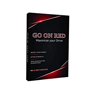 Go On Red, Natural Male Energy Pills, Natural Amplifier for Performance, Energy, and Endurance 10 Red Capsules natural male enhancing - 41ktDMKMZAL - natural male enhancing