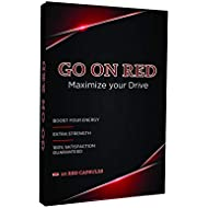 Go On Red, Natural Male Pills, Natural Amplifier for Performance, Energy, and Endurance 10 Red Capsules Per Pack - 2-Packs
