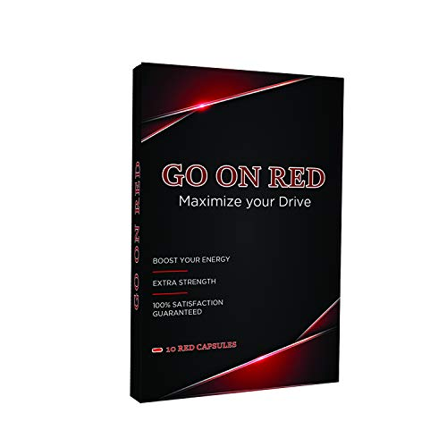 Go On Red, Natural Male Energy Pills, Natural Amplifier for Performance, Energy, and Endurance 10 Red Capsules (Best Over The Counter Male Performance Enhancer)