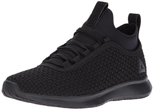 Reebok Womens Plus Baskets Tissées Runner Noir / Argent Mat