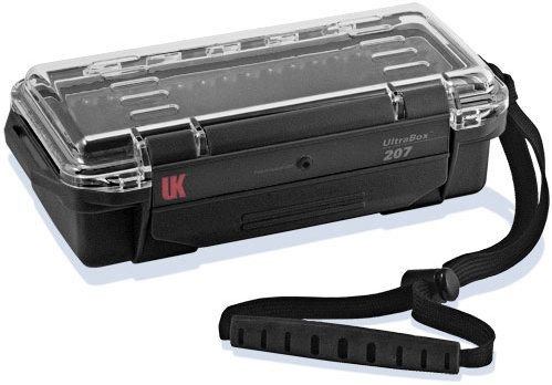 Underwater Kinetics 207 Clear View UltraBox with Lid Pouch and Padded Liner (Black)