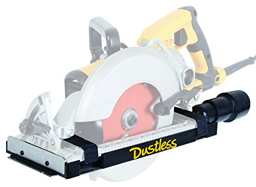 - Dustless Technologies D4000 DustBuddie Universal Dust Shroud for Worm Drive Circular Saws