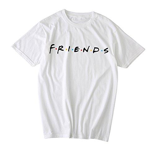 Show Shirt Ladies (Qrupoad Friends TV Show T Shirts Womens Summer Short Sleeve Loose Graphic Shirt Tees Tops)