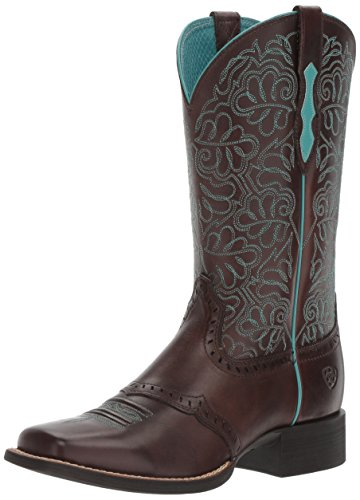 Ariat Women's Round up Remuda Western Cowboy Boot, Naturally Dark Brown, 7 B US ()