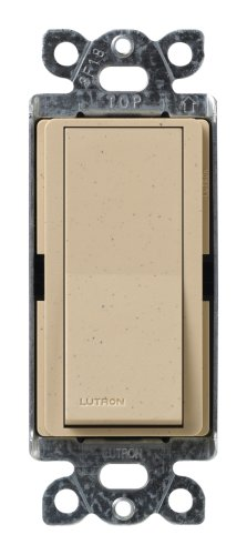 (Lutron SC-3PS-DS Diva 15-Amp, 120-Volt to 277-Volt 3-Way Switch in Dessert Stone)
