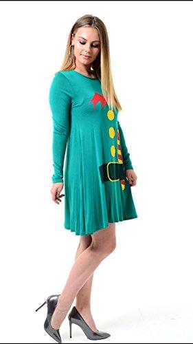 Eur 42 Vert Body Swing Femmes 36 Dress Elf Taille wFPqfTIS