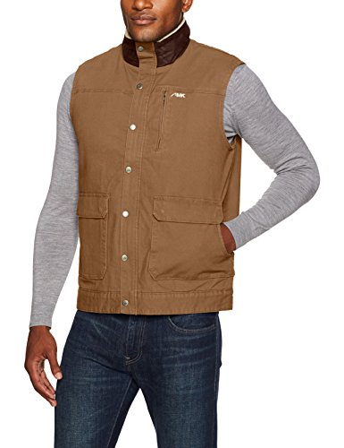 Mountain Khakis Men's Ranch Shearling Vest, Tobacco, Large