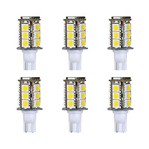 Makergroup T5 T10 Wedge Base LED Light Bulb High Brightness 12VAC/DC 3Watt 2700K-3000K for Outdoor Landscape Lighting Deck Stair Step Path Lights and Automotive RV Lights (3W 6-Pack, Warm White)
