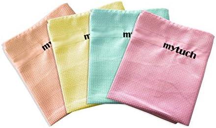 Mytuch Lot de 4 chiffons de nettoyage en microfibre