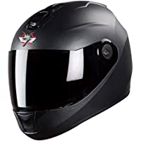 Steelbird SBH-11 7Wings Full Face Helmet (Large 600 MM, Dashing Black with Smoke Visor)