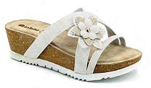 Sandales pour EU Blanc Inblu 40 Femme Bianco 8Uqn61