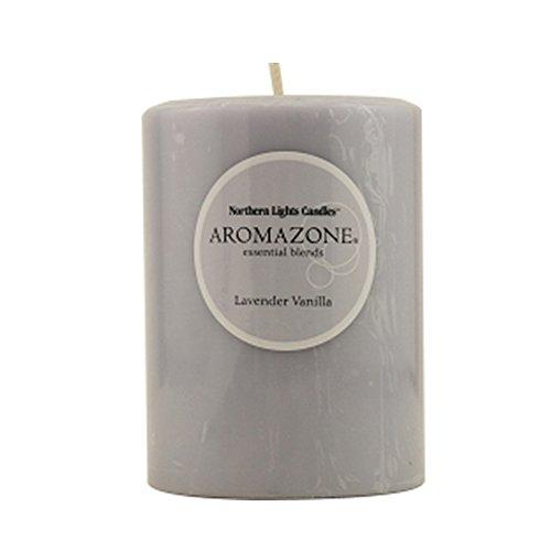 Lavender & Vanilla Essential Fragrance Blend 3X4 Inch Pillar - Inch Blend 3x4 Candle Pillar