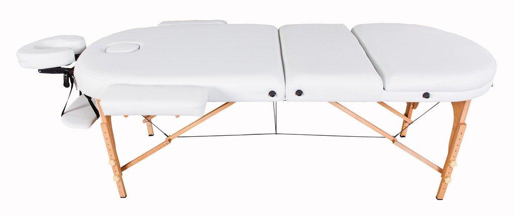 Lg/ère//Mousse 7cm Massage Imperial Table de massage pro luxe Couleur : Blanc Ivoire Plateau 3 Pi/èces Portable Monarch Panneaux Reiki