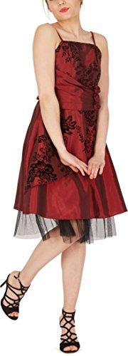Vestido 'Tara' Gala Rojo De Oscuro BlackButterfly Essence Satén De HRnTHx