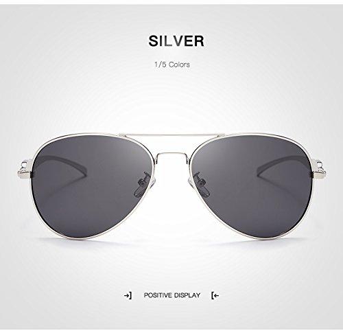 Grand Hommes Soleil polarisées Lunettes Silver XZP Adultes Soleil métal de Femmes UV400 Protection aviateur Cadre Lunettes de en accessoires 7qaHanA