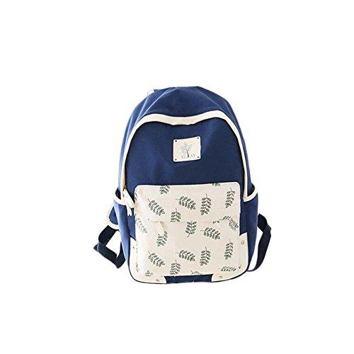 Fashion Student Bag Casual Canvas Rucksack Kleine Fresh Travel Rucksack_A8