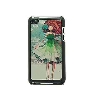 MOFY-Chica con el patr-n de flor dura del caso para el iPod touch 4