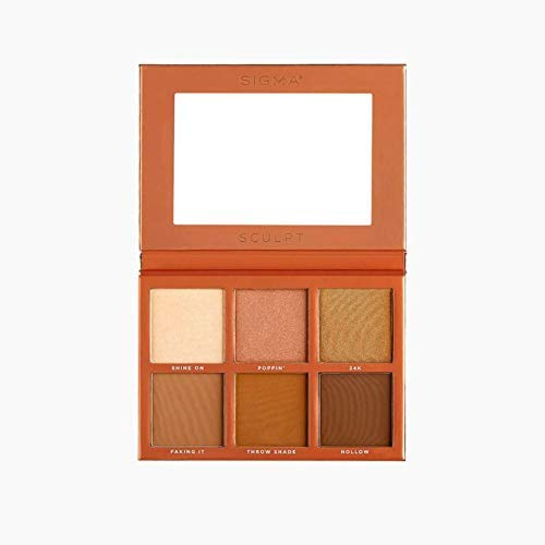 Sigma Beauty Sculpt Palette, Highlight and Contour Palette, 6 Colors