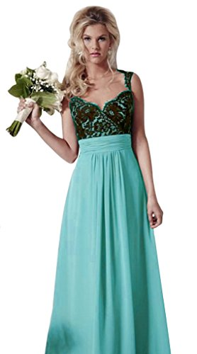 Aurora Bridal Reg; Aurora Reg Mariée; 2016 Lace Long Bridesmaid Dresses Chiffon A Line Wedding Gown Turquoise 2016 Dentelle Longue Robes De Demoiselle D'honneur Robe De Mariage Ligne Turquoise