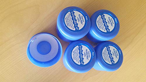 Water Bottle Cap for 3 or 5 gallons - Non Spill (Quantity of 6) MADE IN USA. (5 Gallon Water Bottle Caps No Spill)