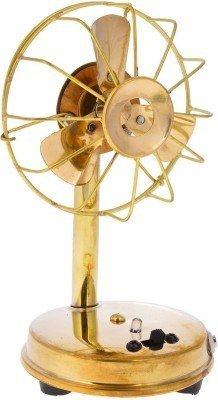 Rajkruti Metal Antique Fan(Handicraft)For Home Decor(10 cm X 9 cm X 16.5 cm) Set of 1