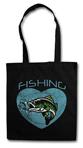 FISHING Hipster Bag Beutel Stofftasche Einkaufstasche