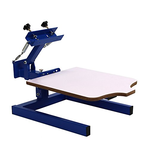 1 Color 1 Station Silk Screen Commercial Printing Press Machine Blue ND101-M by Commercial Bargains by Commercial Bargains